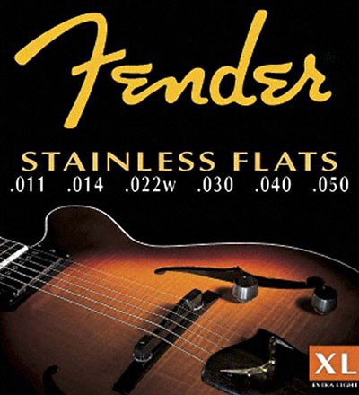 Fender Set Cuerdas Acero Inoxidable Planas (.011-.050)