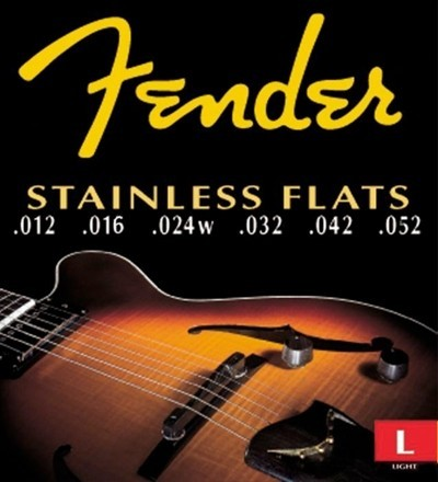 Fender Set Cuerdas Acero Inoxidable Planas (.012-.052)