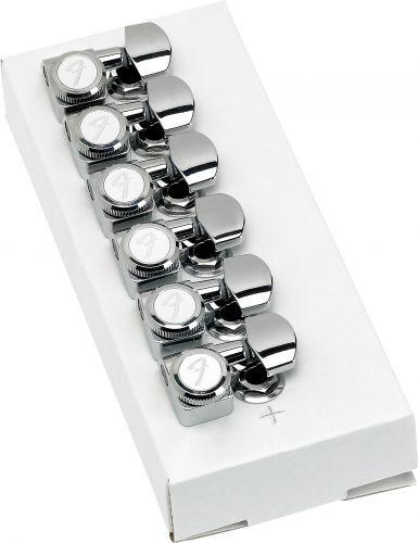 Fender Clavijero Strat®/Tele® Cromado con Bloqueo (Set de 6)