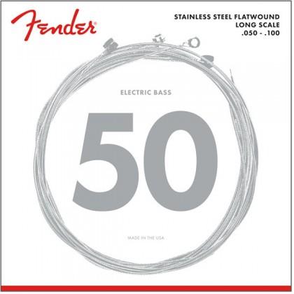 Fender Set 4 Cuerdas Bajo Acero Inoxidable Planas (.050-.100)