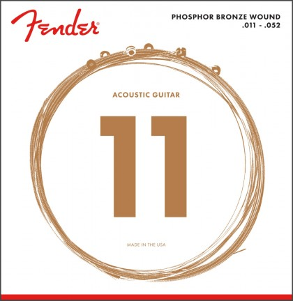 Fender Set Cuerdas Phosphor Bronze (.011-.052)