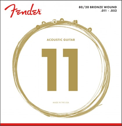 Fender Set Cuerdas 80/20 Bronze Wound (.011-.052)