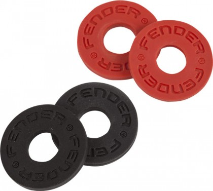 Fender Set de 4 Argollas para Bloquear Correa - Black / Red