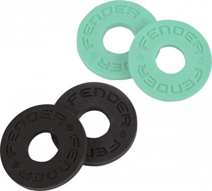 Fender Set de 4 Argollas para Bloquear Correa - Black / Surf Green
