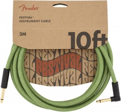 Fender Cable Instrumento Festival 10 pies (3 m) en L