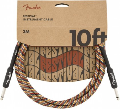Fender Cable Instrumento Festival 10 pies (3 m) Recto