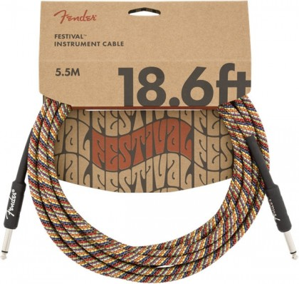 Fender Cable Instrumento Festival 18.6 pies (5.5 m) Recto