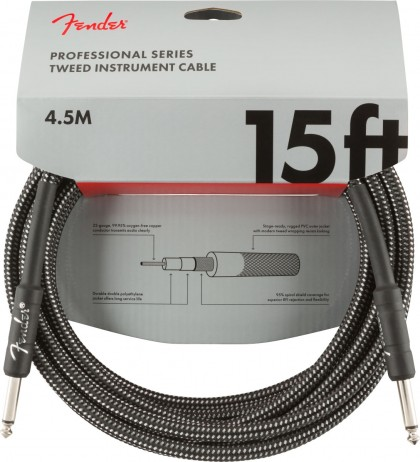 Fender Cable Professional 15 pies (4.5 m) Recto