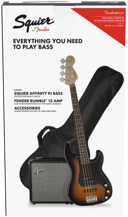 Squier Pack Precision Bass® PJ Affinity c/ Amp Rumble™ 15